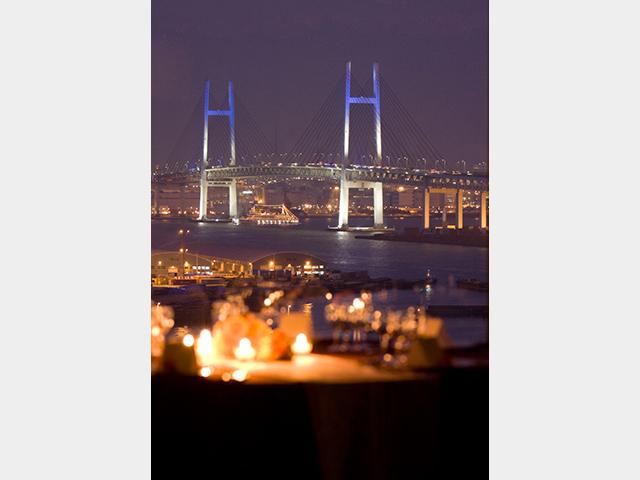 画像:レストランからの夜景