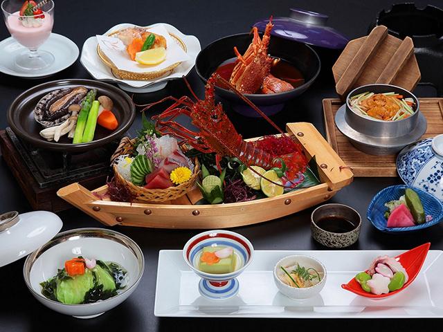 画像:三大海の幸会席料理写真(イメージ)