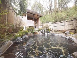 画像:野趣満点の露天風呂