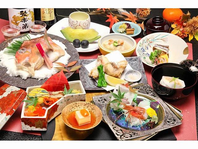画像:秋野菜と甘鯛会席