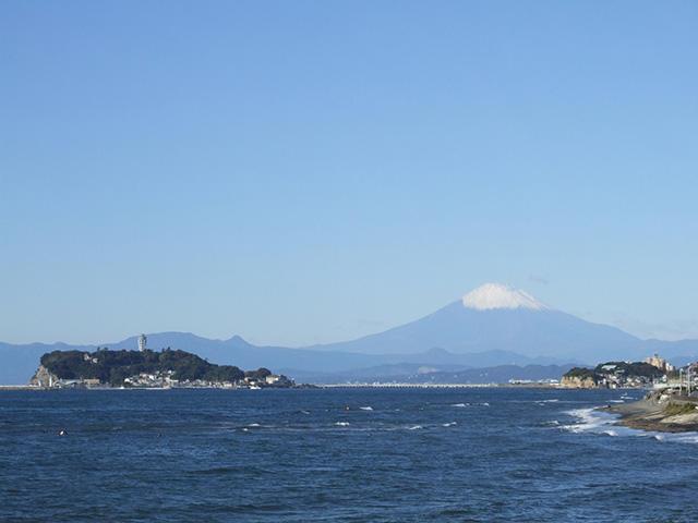 画像:富士山と江の島