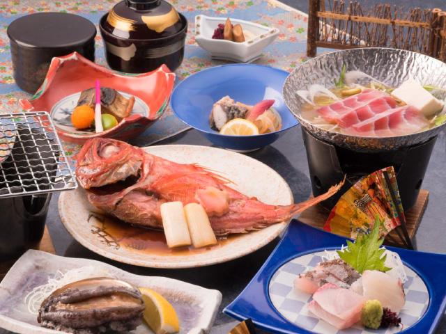 画像:あわびと金目鯛煮付(イメージ)