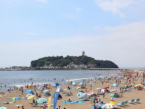 画像:片瀬東浜海岸