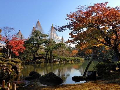 画像:秋の兼六園