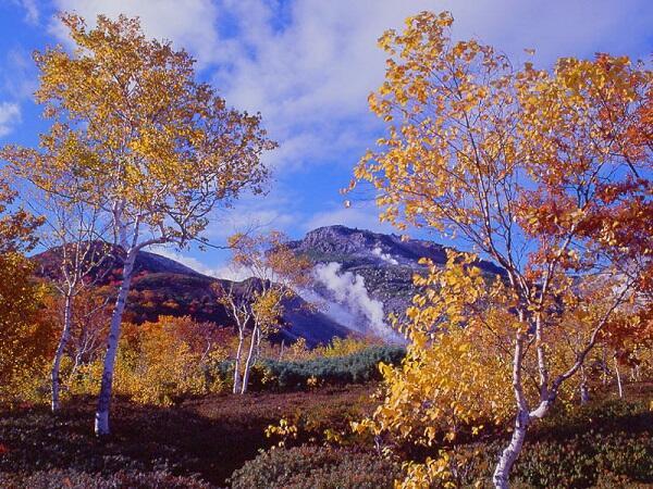 画像:秋の硫黄山