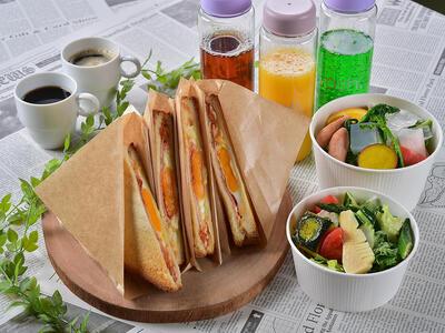 画像:選べる朝食 ホットサンド