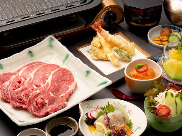 画像:国産牛リブロースステーキ食べ放題