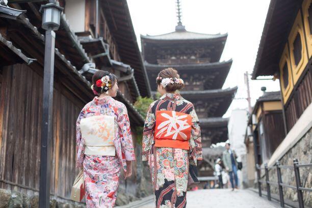 画像:浴衣で京都散策